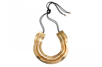 Natori_Jewelry_Three Layered Gold Plated Necklace